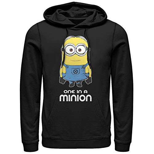 Despicable Me Men's One in Minion Black Hoodie ()