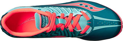 Saucony Women's Spitfire Spike Shoe, Teal/Coral, 12 M US by Saucony (Image #1)