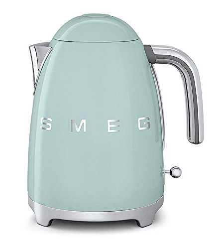 Smeg KLF01PGUS 50's Retro Style Aesthetic Electric Kettle, Pastel Green