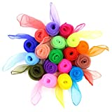 Koobea 20 Pieces Square Juggling Dance Scarves Small Floaty Scarves - Mixed