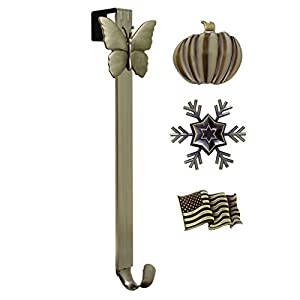 Adjustable Length Wreath Hanger with Interchangeable Icons 11