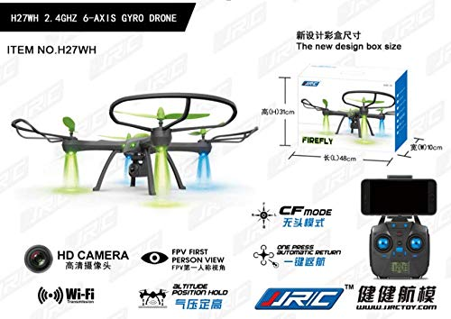 JJRC H27HW 4CH HD Camera WiFi FPV 2.4G 6-axis Gyro RC Quadcopter Altitude Hold RC Toy UAV by SMOXX
