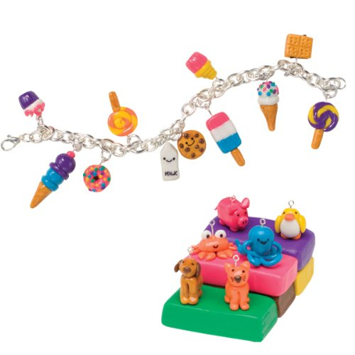 klutz make clay charms craft kit import it all