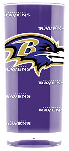 (NFL Baltimore Ravens 16oz Insulated Acrylic Square Tumbler)
