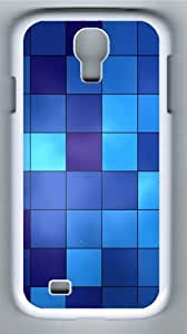 Blue Tiles Polycarbonate Hard Case Cover for Samsung Galaxy S4/Samsung Galaxy I9500 White