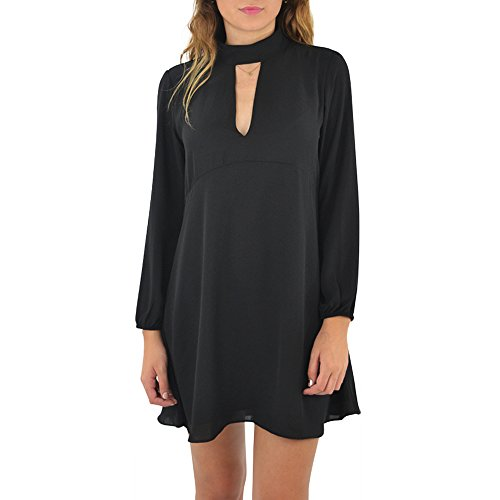 Three Eighty Two Jordan Cutout Mini Dress in Black (Small, Black) by Three Eighty Two