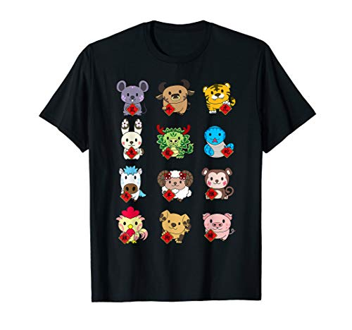 Cute Chinese Zodiac Animal Signs t-shirt Lunar New Year