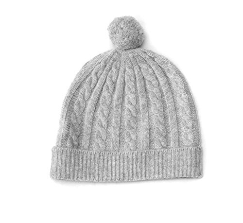 Amazon 100 Cashmere Baby Beanie Cap Cable Knit Pattern 4 Ply