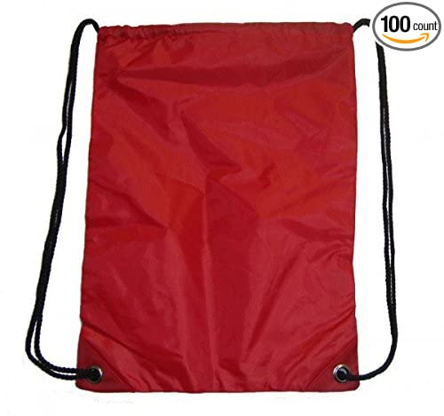 Red Case Pack 100 DD DLRDY260536 703103 Gym Bag Sports Drawstring Backpack