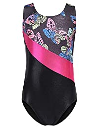 Arshiner Girls Gymnastics Leotards One Piece Shiny Diamond Ballet Dance Clothes 3-12 Years