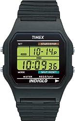Timex Men's T75961 Classics Digital Chronograph Black Strap Watch