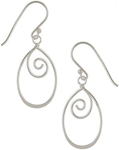 Signature Sterling Open Swirl Teardrop Earrings One Size Silver ()