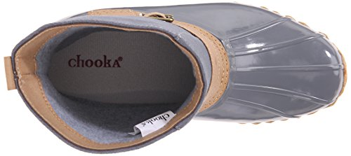 Chooka Women's Low Duck Bootie Rain Boot Canvas Grey UygWdu