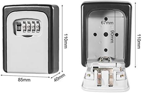 多機能キー暗号ボックスキーボックスキー収納ボックスキー収納4桁のパスワードロック高強度合金 (Color : A)