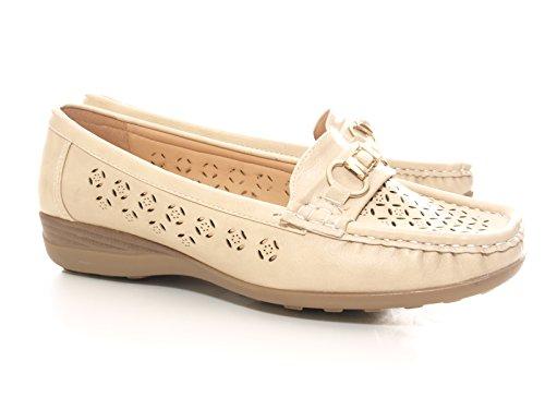 Damen Keilabsatz für Schuhe Ideal Sommer den 131081 Beige rWrgRcH
