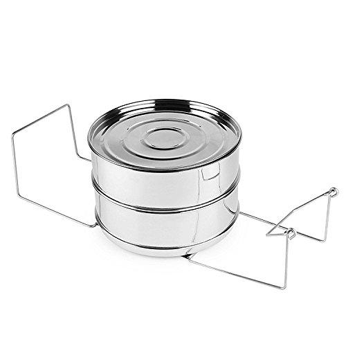 V&M Stackable Steamer Insert Pans for Pressure Cooker