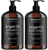 Moroccan Argan Oil Shampoo & Conditioner Set 16 Oz - Volumizing & Moisturizing