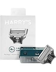 Harrys Razor Blades (1 Pack of 4) in Durable Hinged...