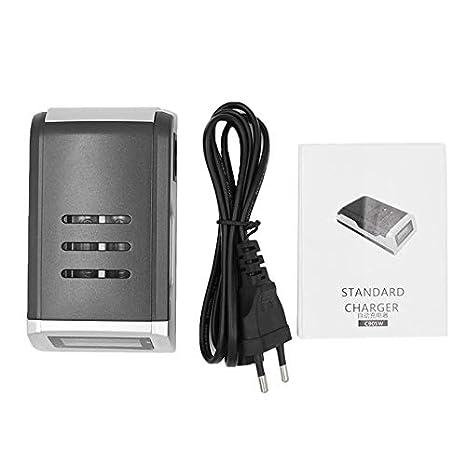 Mouchao Cargador de batería LCD Inteligente de 4 Ranuras ...