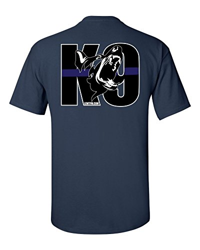Police Blotter Mens K9 T-Shirt Clean Navy XX-Large