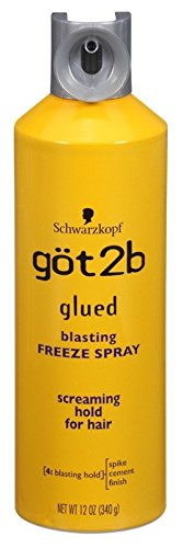 GOT 2B Glued Blasting Freeze Spray, 12 Ounce (Pack of 2) (Best Hair Dye To Use On Weave)