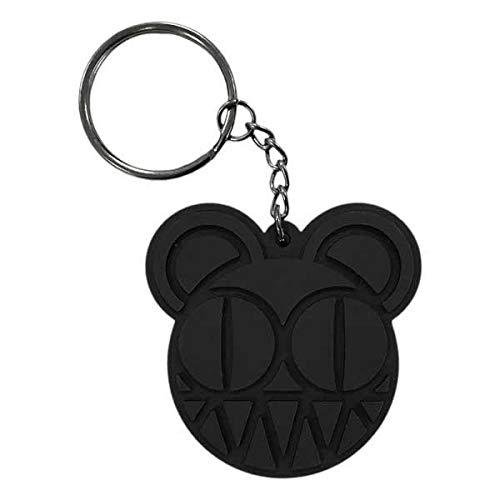 Radiohead 2018 Tour PVC Bear Logo Keychain Black