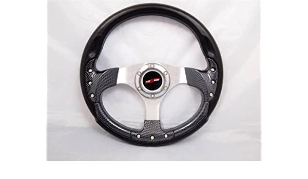 "Boat Steering wheel 3 spoke Adapter 3//4/"" tapered key Marine Black chrome"