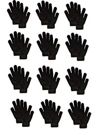 Men's HG Winter Magic Gloves, Black Acrylic, One Size, 12 Piece