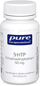 Pure Encapsulations - 5-HTP (5-Hydroxytryptophan) 50 mg - Hypoallergenic Dietary Supplement - 60 Capsules