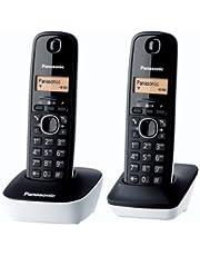 Panasonic KX-TG1612FRW Téléphone Duo sans fil DECT sans répondeur Blanc