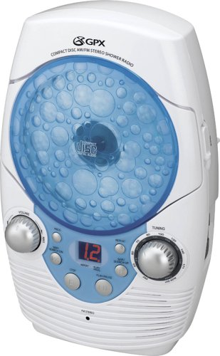 Bathroom Radio Cd Player. Gpx Rcd3815sh Mr Water Resistant Bathroom Cd Player With Amfm Radio And