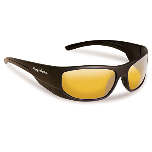 Fly Fish Cape Horn Sunglasses Mt Black/Yellow - Sunglass Fly Black