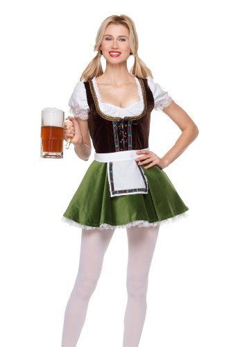 Mystery House Costumes Bavarian Girl, Multi, Large