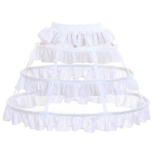 CosplayDiy Women's Prom Dress Petticoat Crinoline One Size White