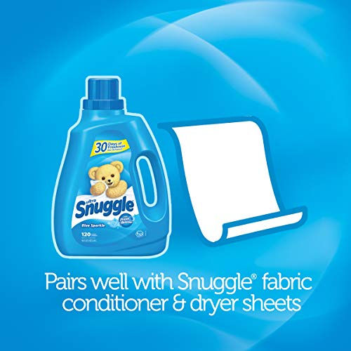 Snuggle Scent Shakes in-Wash Scent Booster Beads, Blue Sparkle, 9 Ounce (Pack of 4)