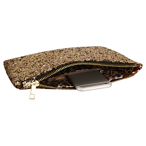 Golden Handbag Purse Wallet Clutch Prime Sequins Dazzling FL1 Sparkling Xidan Women vwFq7AZ