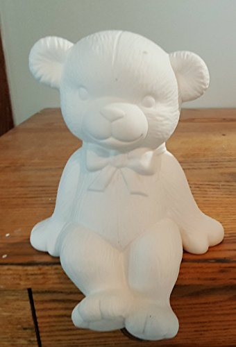 Boy Bear Shelf Sitter unpainted ceramic bisque ready to be painted