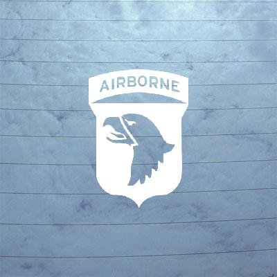 101ST AIRBORNE SCREAMING EAGLES WWII DECAL STICKER DIE CUT CAR BIKE LAPTOP WHITE MACBOOK NOTEBOOK AUTO ART WINDOW HELMET WALL WALL ART VINYL CAR (Eagle Die Cut Vinyl Decal)