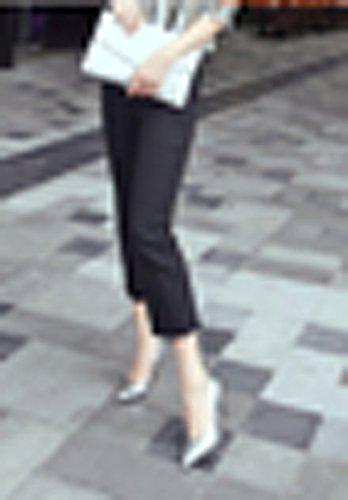 Sexy Snake talones La Plata zapatos 37 punta 9cm Moda una pintura elegante Ajunr Boca superficial fina Transpirable 34 Sandalias Con qxf7IxwYO