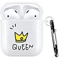 Transparent Queen Protective Hard Clear Case Cover For Airpods