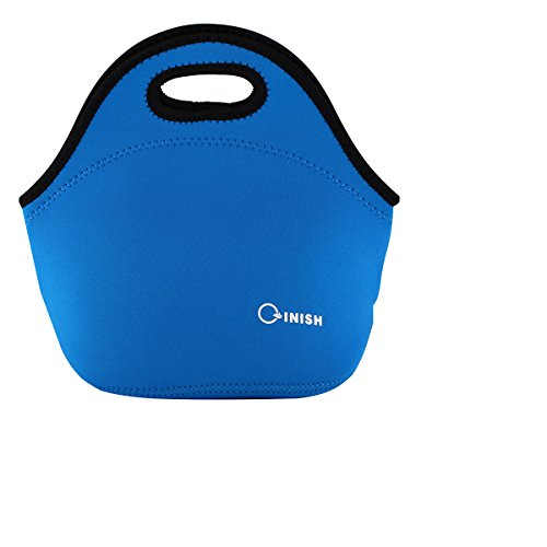 QINISH Neoprene Insulated Lunch bags Reusable Lunch Tote Boxes for Women Men Adults - Black Wetsuit Friday