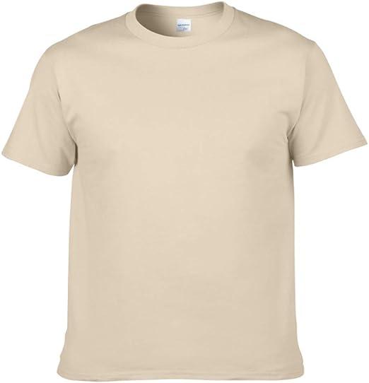 IDE Play Pesada de algodón para Hombres de la Camiseta de la Camisa, para Hombre Anillo de algodón de Primera Calidad Spun Camiseta,Beige,M: Amazon.es: Hogar