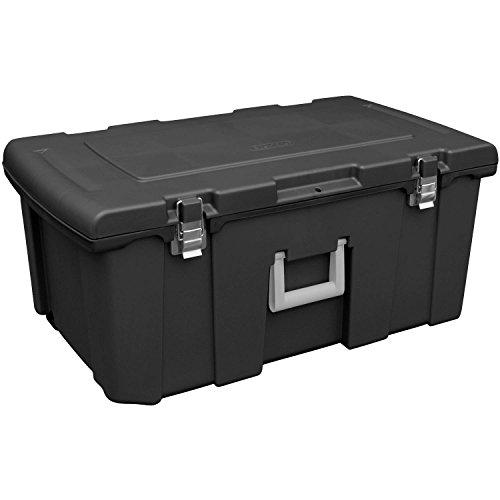 [Sterilite Footlocker Storage with Rolling Wheels, Multiple Colors - Black] (Ww2 Navy Uniforms)