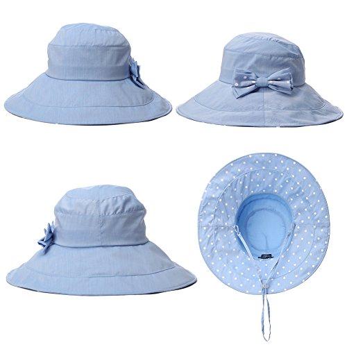 ad79c4fa042 Siggi Womens Summer Bucket Boonie UPF 50+ Wide Brim Sun Hat Cord Cap ...