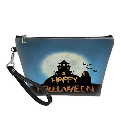 makeup organizer bagwaterproof cosmetic bagHappy Halloween design - vector background5 8.5