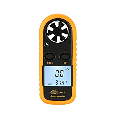 Exiao BENETECH GM816 Digital Anemometer Thermometer Wind Speed Air Velocity Airflow Temperature Gauge Windmeter LCD Backlight