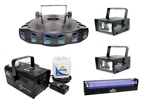 Chauvet DJ Derby X DMX Effect Light w/ Fog Machine + Blacklight + Mini Strobes by Chauvet DJ