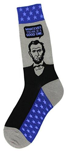 Foot Traffic - Men's Education-Themed Socks, Abe Lincoln (Shoe Sizes ()
