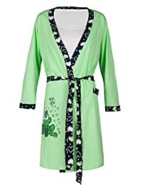 Happy Mama. Womens Maternity Frog Nightie / Pyjamas /Robe SOLD SEPARATELY. 780p