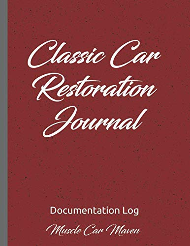 Antique Restoration Car - Classic Car Restoration Journal: Documentation Log (Create Your Own Auto Show Book)